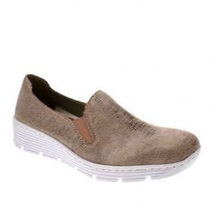 Rieker 587B0-62 Beige Combination. Stylish Shoes