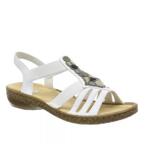 Rieker 628G5-80 White. Stylish Women's Shoes
