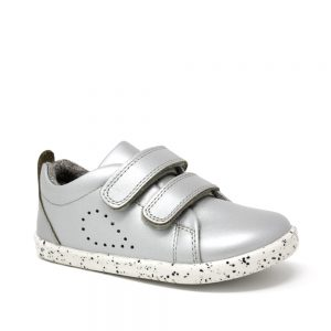 Bobux IW Grass Court Silver. Best shoes for growing feet