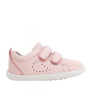 Bobux Grass Court Seashell + Pink. Premium Kids Shoes