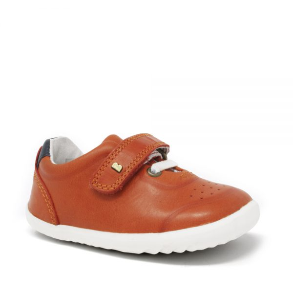 Bobux SU Ryder Paprika + Navy. Best shoes for growing feet.