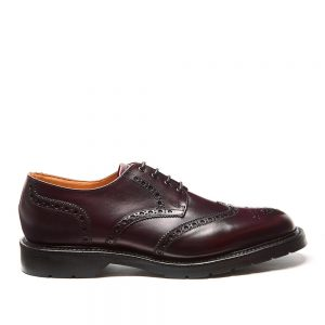 Solovair Burgundy 4 Eye Gibson Brogue. Made from quality leather