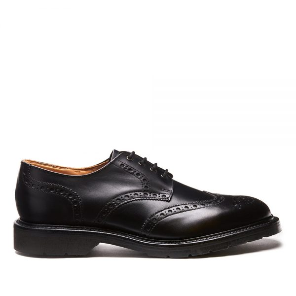 Solovair Black 4 Eye Gibson Brogue. Made from quality leather
