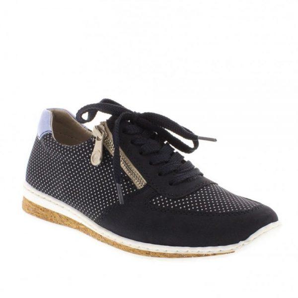 Rieker N5121-14 Fastner Blue Ladies' Shoes