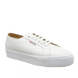 Superga 2730 Nappa Lea White. Stylish Premium Shoes