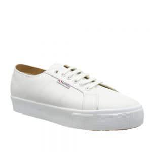 Superga 2730 Nappa Lea White. Stylish Premium Shoes