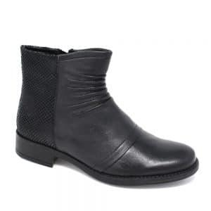 Lotus Black Marble Leather Snake-Print. Premium Women's Shoes