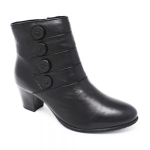 Lotus Julia Black Leather. Premium Women's Shoes.