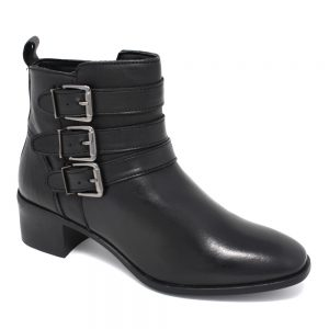Lotus Mathilda Black Leather. Premium Women's Shoes