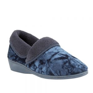 Lotus Doris Navy Full Slipper. Premium Women's Shoes