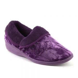 Lotus Doris Purple Full Slipper. Premium Women's Shoes