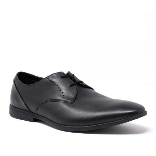Clarks Bampton Lace Black Leather. Premium Women's Shoes