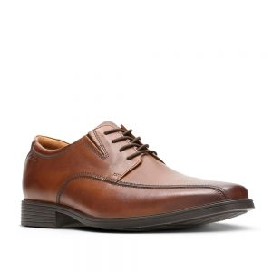 Clarks Tilden Walk Dark Tan Leather