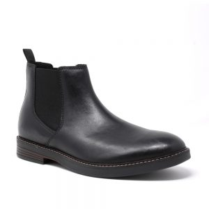 Clarks Paulson Up Black Leather. Premium Shoes