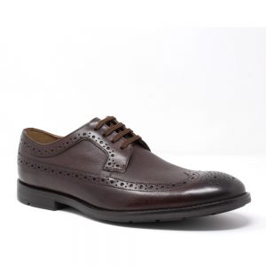 Clarks Ronnie Limit Dark Tan Leather. Premium Shoes