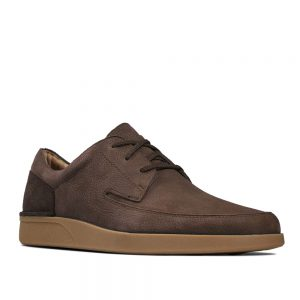 Clarks Oakland Craft Dark Brown Nubuck. Premium Shoes