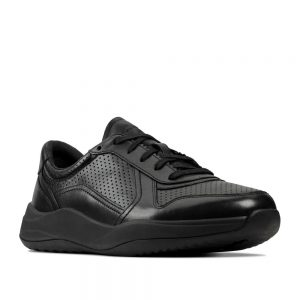 Clarks Sift Speed Black Leather. Premium Shoes
