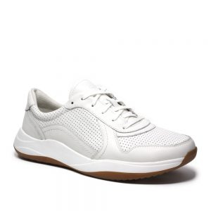 Clarks Sift Speed White Leather. Premium Shoes