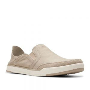 Clarks Step Isle Row Sand Canvas. Premium Shoes