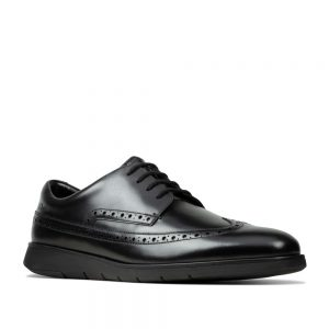 Clarks Helston Limit Black Leather. Premium Shoes