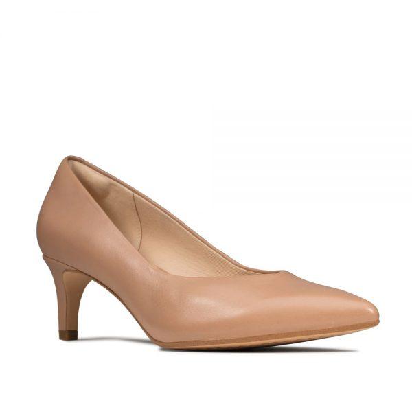 Clarks Laina 55 Court Praline Leather. Premium Shoes