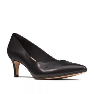 Clarks Laina 55 Court Black Leather. Premium Shoes