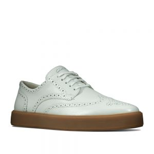Clarks Hero Limit White Leather. Premium Shoes