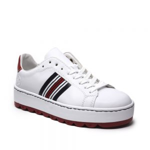 Rieker N4622-81 White Ladies Trainers. Premium Shoes