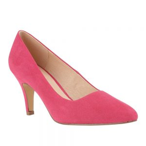 Lotus Fuchsia Microfibre Court Shoes. Premium shoes
