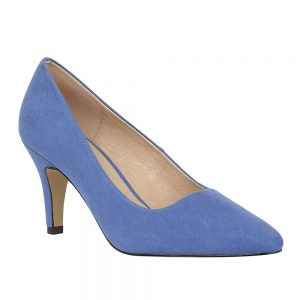 Lotus Holly Blue Microfibre Court Shoes. Premium Shoes