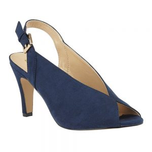 Lotus Akiko Navy Microfibre Sling Back Court Shoes. Premium Shoes