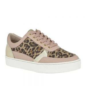 Lotus Venice Leopard Pink Leather. Premium Shoes.