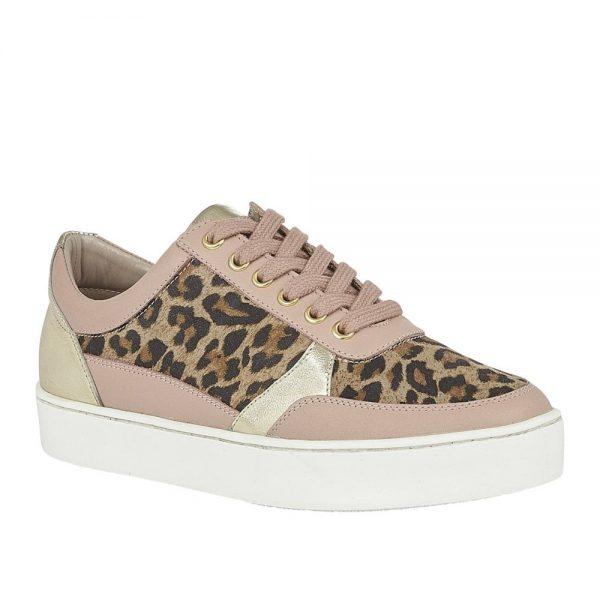 Lotus Venice Leopard Pink Leather. Premium Shoes.