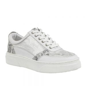 Lotus Venice Snake White Leather. Premium Women's Shoes