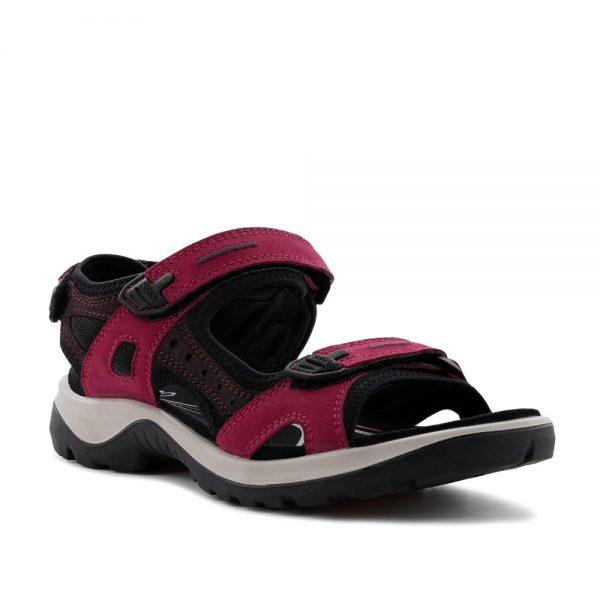 Ecco Offroad Sangria / Fig. Premium Leather Sandals