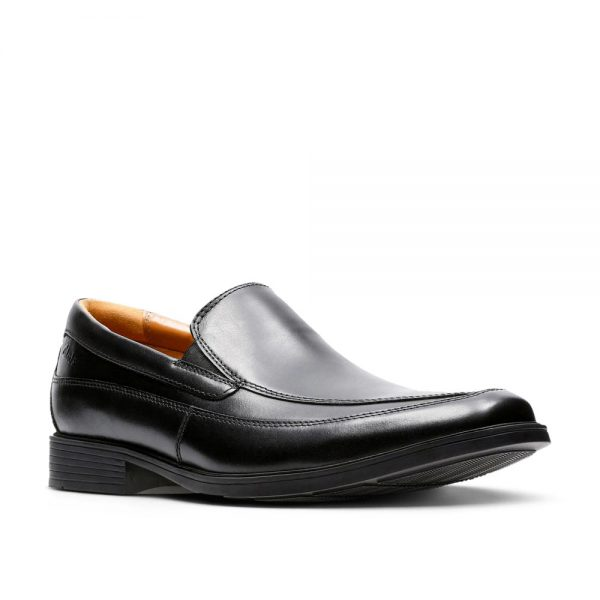 Clarks Tilden Free Black Leather. Premium Shoes