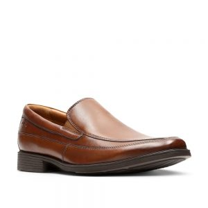 Clarks Tilden Free Dark Tan Leather. Premium Shoes