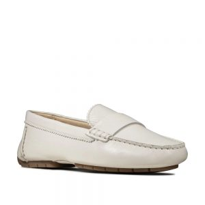 Clarks C Mocc White Leather. Premium Shoes