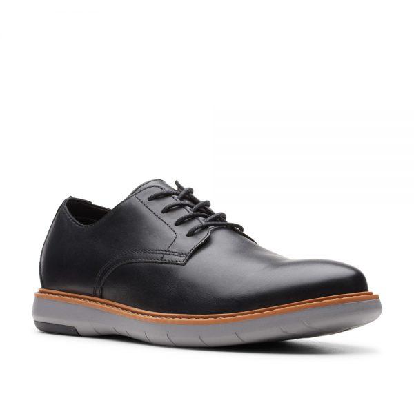 Clarks Draper Lace Oxford Flat Black. Premium Men's Shoes.