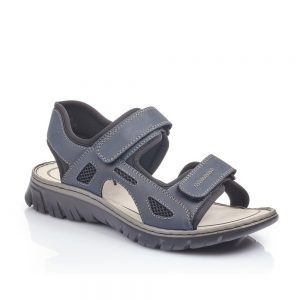 Rieker 26761-14 Men's Blue Sandals With Hook and Loop Fastening