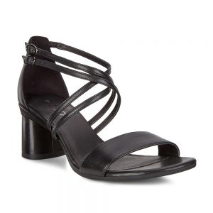 Ecco Elevate 65 Block Sandal Black