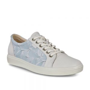 Ecco Soft 7 White/Dusty Blue