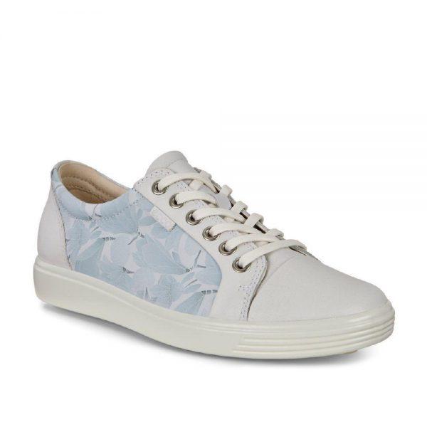 Ecco Soft 7 White/Dusty Blue