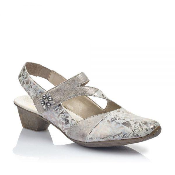 Rieker 49787-90 Ladies Metallic Slingback Shoes