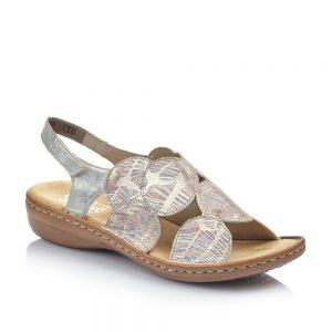 Rieker 60819-90 Ladies Multi Sandals with Hook and Loop Fastening