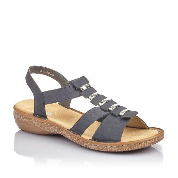 Rieker 62850-14 Ladies Blue Sling Back Sandals
