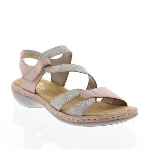 Rieker 65969-81 Ladies Sandals with Hook and Loop Fastening