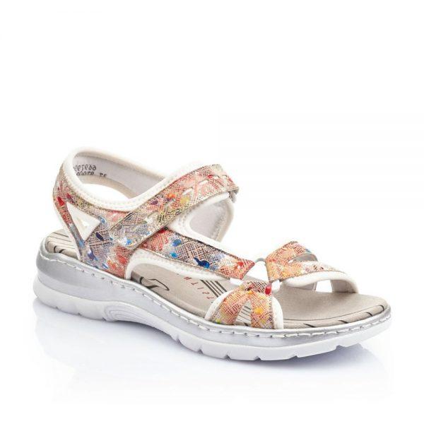 Rieker 66979-92 Ladies Sandals with Hook and Loop Fastening