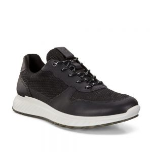 Ecco ST. 1 M Black. Premium Black Leather Shoes