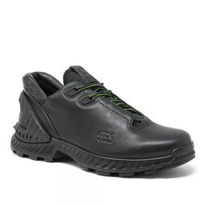 Ecco Exohike M. Premium Black Leather Shoes